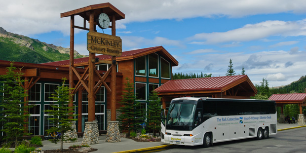 Park Connection bus at Denali Park
