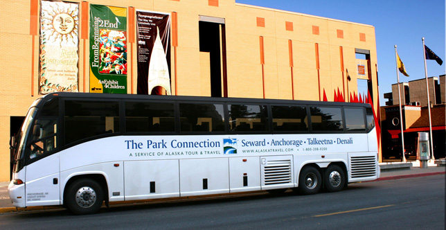 Park Connection Motorcoach at Anchorage Museum.