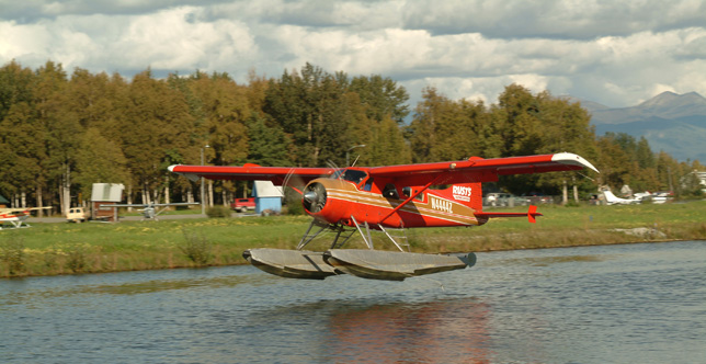 Flightseeing from Lake Hood in Anchorage.
