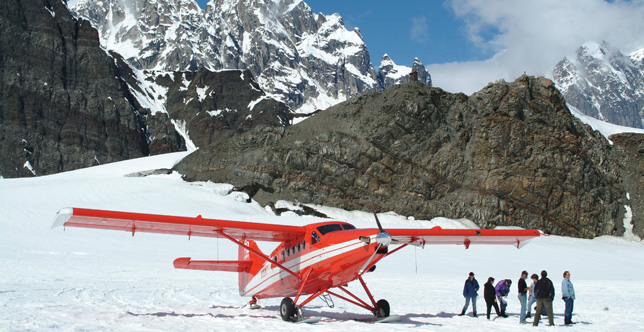 Take a scenic flight to Mt. Denali from Talkeetna.