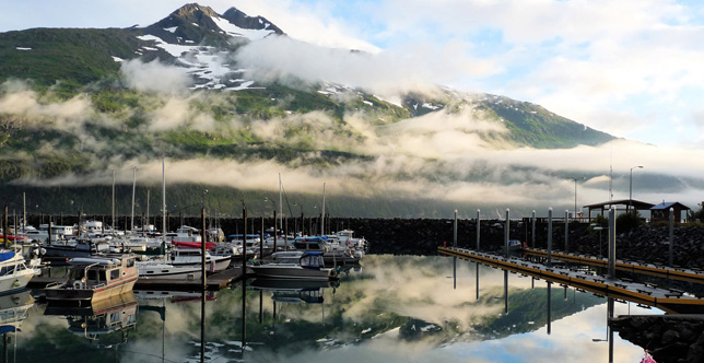 Whittier Alaska small boat harbor.