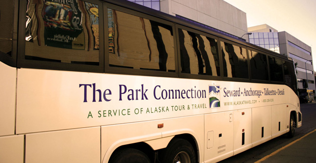 The Park Connection Motorcoach fleet.