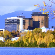 Anchorage city skyline.