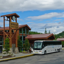 Park Connection bus at Denali Park.