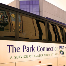 Park Connection bus in downtown Anchorage.