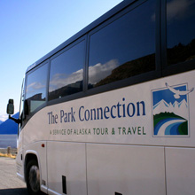 Park Connection bus on Turnagain Arm.